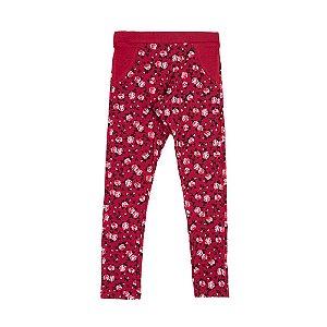 Legging Menina Bordo Estampa Floral Mr Kids MR-6994-B Tam 4 a 10