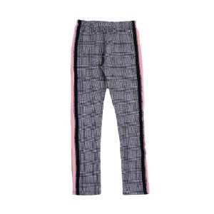 Legging Juvenil Cinza Com Duplo Friso Lateral LX Textil