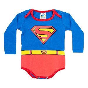 Body Azul Super Homem Pega Legal