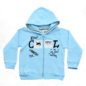 Casaco Infantil Menina Azul Keep Cool Andritex