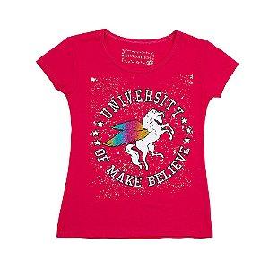 Blusa Menina Pink Estampa University Geração Brasil DE-18700-PUN Tam 12 a 16