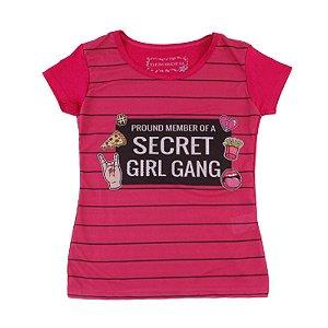 Blusa Menina Rosa Secret Girl Gang Geração Brasil