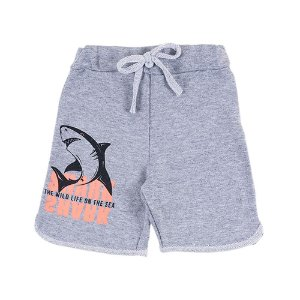 Bermuda Infantil Masculina Mescla Tubarão Bju Kids