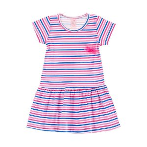 Vestido Infantil Feminino Listrado Colorido Bju Kids