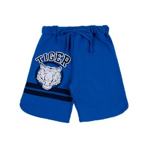Bermuda Infantil Masculina Azul Tiger Bju Kids