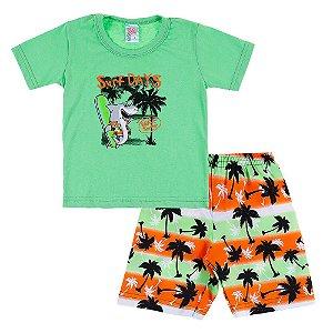 Conjunto Infantil Masculino Verde Surf Days Bju Kids