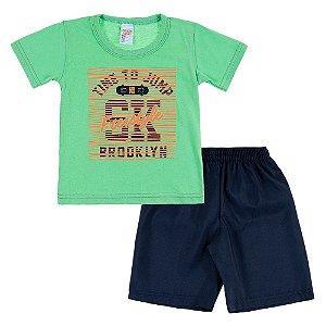 Conjunto Infantil Masculino Verde Freestyle Bju Kids