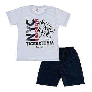 Conjunto Infantil Masculino Tiger Branco  Bju Kids