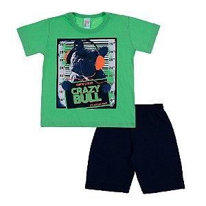 Conjunto Infantil Masculino Verde Crazy Bull Bju Kids