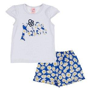Conjunto Infantil Feminino Branco Miss Bju Kids