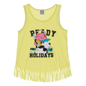 Regata Infantil Feminina Holidays Amarela Bju Kids