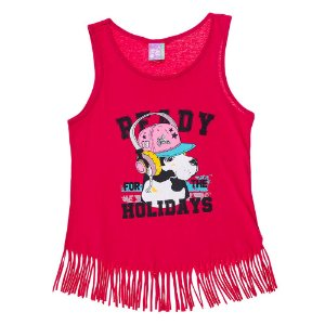 Regata Infantil Feminina Holidays Rosa Escura Bju Kids