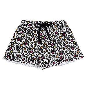 Shorts Infantil Feminino Oncinha Bju Kids