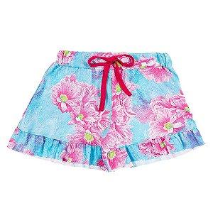 Shorts Infantil Feminino Floral Bju Kids