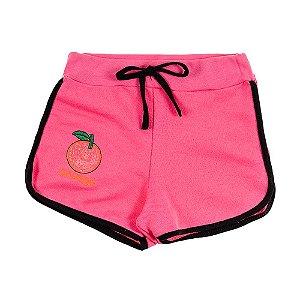 Shorts Infantil Feminino Rosa Orange Bju Kids