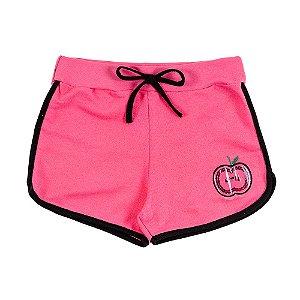Shorts Infantil Feminino Rosa Apple Bju Kids