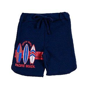 Bermuda Infantil Masculina Pacific Beach Azul Marinho Bju Kids