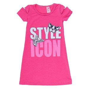 Vestido Infantil Rosa Claro Style Icon Bju Kids