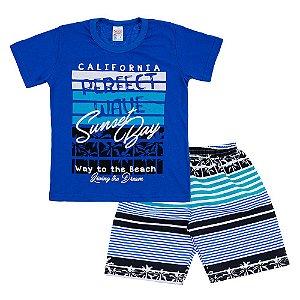 Conjunto Infantil Masculino Sunset Bay Azul Escuro Bju Kids