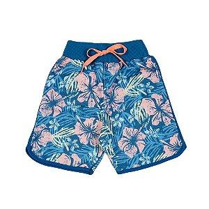 Bermuda Infantil Masculina Floral Azul  Ralakids