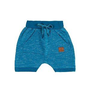 Bermuda Infantil Masculina Jogger Azul Ralakids