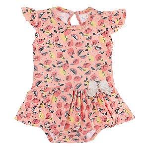 Body Vestido Infantil Feminino Rosa Claro Ralakids