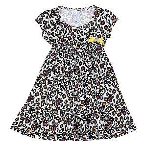 Vestido Infantil Feminino Oncinha Bju Kids