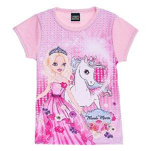 Blusa Infantil Feminina Princesa Mundo Mania