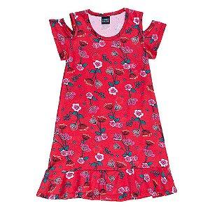 Vestido Infantil Feminino Floral Mundo Mania