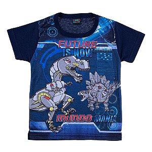 Camiseta Infantil Masculina Dinossauro Mundo Mania