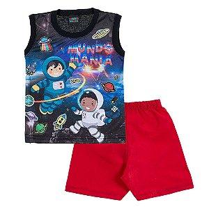 Conjunto Bebê Masculino Astronauta Mundo Mania