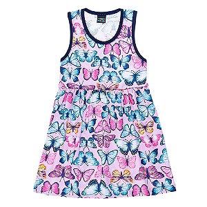 Vestido Regata Infantil Borboleta Mundo Mania