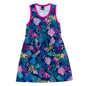Vestido Regata Infantil Folha Mundo Mania
