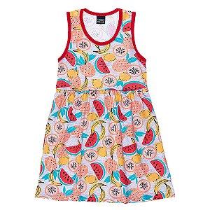 Vestido Regata Infantil Fruta Mundo Mania
