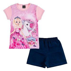 Conjunto Infantil Feminino Princesa Mundo Mania