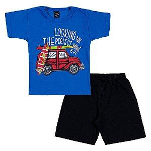 Conjunto Infantil Masculino Surf Azul Scheila Malhas