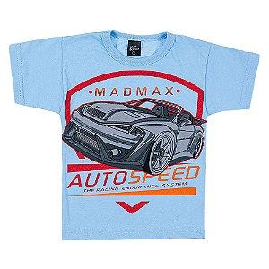 Camiseta Infantil Masculina Carro Azul Scheila Malhas