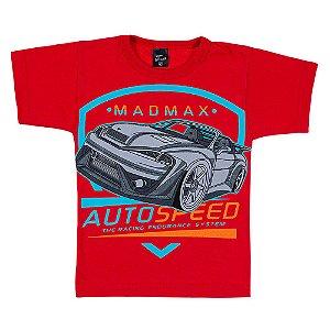 Camiseta Infantil Masculina Carro Vermelha Scheila Malhas