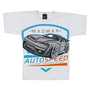 Camiseta Infantil Masculina Carro Creme Scheila Malhas