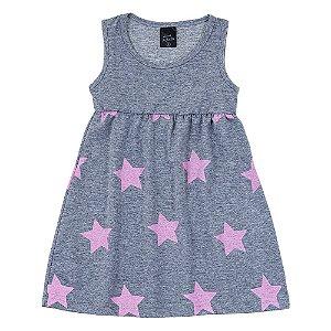 Vestido Infantil Feminino Estrela Mescla Scheila Malhas