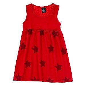 Vestido Infantil Feminino Estrela Vermelho Scheila Malhas