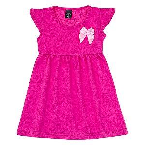 Vestido Infantil Feminino Rosa Scheila Malhas
