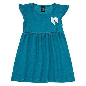 Vestido Infantil Feminino Verde Scheila Malhas