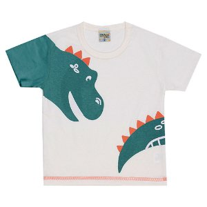 Camiseta Infantil Masculina Dino Creme Didiene