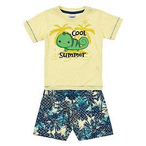 Conjunto Bebê Masculino Verão Amarelo Duzizo
