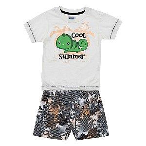 Conjunto Bebê Masculino Verão Creme Duzizo