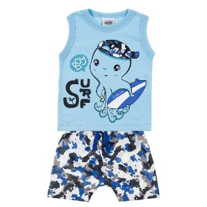 Conjunto Bebê Masculino Surf Azul Duzizo
