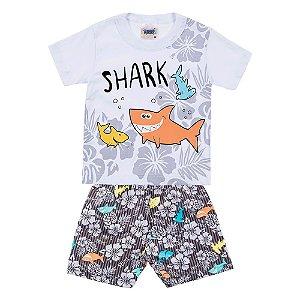 Conjunto Bebê Masculino Tubarão Branco Duzizo