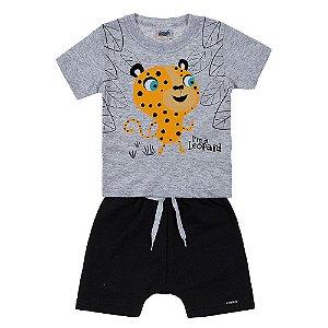 Conjunto Bebê Masculino Leopardo Mescla Duzizo