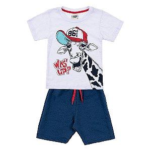 Conjunto Infantil Masculino Girafa Branco Duzizo